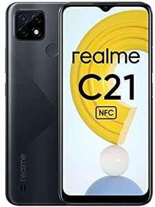"""Smartphone 6.5"""" Realme C21 - HD+, Helio G35, 4 Go RAM, 64 Go, 5000 mAH, Dual Sim, NFC, noir"""