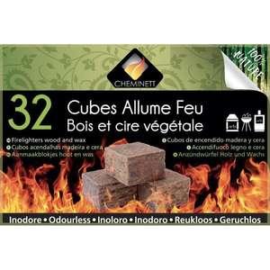Lot de 32 Cubes Allume-feu en bois et cire végétal Cheminett - Narbonne (11)