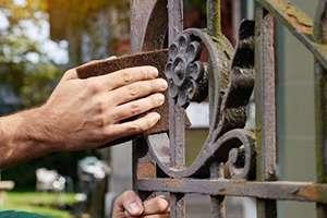 Abrasif flexible Bosch en non-tissé grossie - Marron