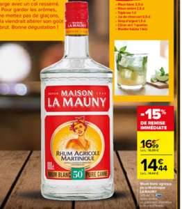 Bouteille de Rhum La Mauny - 1l