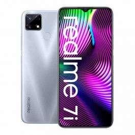 """Smartphone 6.5"""" Realme 7i - HD+, Helio G85, 4 Go de RAM, 64 Go de stockage, 48 Mpix, 6000 mAh, bleu"""
