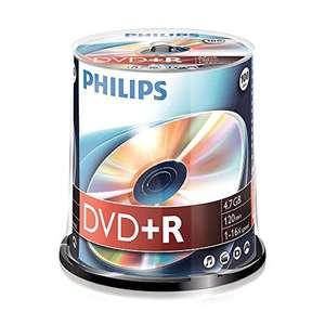 Pack de 100 DVD+R Philips