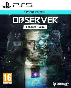 Sélection de jeux en promotion - Ex : Observer System Redux Day One Edition sur PS5, PS4 & Xbox One (Retrait magasin uniquement)