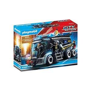 Jouet Playmobil Camion des policiers d'élite avec sirène et gyrophare (9360)