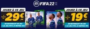 [Précommande] Fifa 22 sur PS4 ou Xbox One (via la reprise d'un jeu parmi une sélection - 19.99€ via la reprise de Fifa 21 en plus)