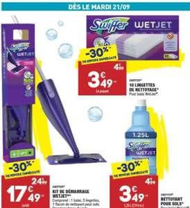 Sélection d'articles Swiffer en promotion - Ex : 10 Lingettes de nettoyage pour sols Swiffer