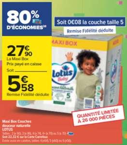 Paquet de couches Lotus Baby Natural Touch Maxi Box - Différentes tailles, existe aussi en culottes (via 22,32 € sur la Carte de Fidélité)
