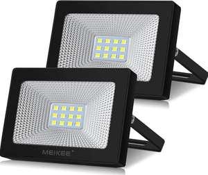 Lot de 2 projecteurs extérieur LED Meikee - 10 W , 1000 lumens, IP66, Blanc Froid