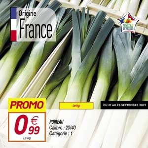 Poireau - 1Kg (Origine France), Catégorie 1