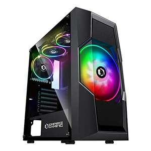 Boîtier PC Empire Gaming Onyx ARGB - avec 4 ventilateurs LED RGB (vendeur tiers)