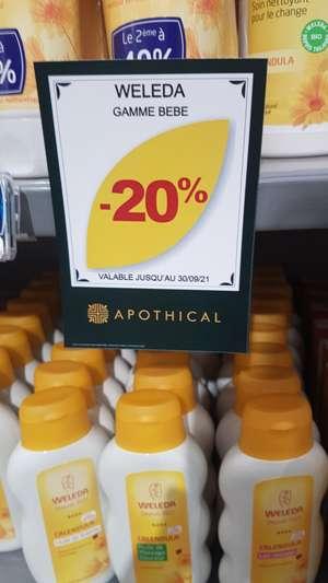 20% de réduction sur la gamme Weleda Bébé - Pharmacie Becker Monteux (84)