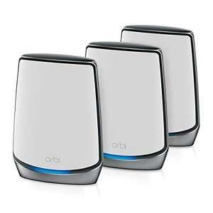Pack de 3 Routeurs Netgear Orbi (RBK853) - Système WiFi 6 AX6000 Mesh Tri Bandes