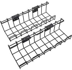 Lot de 2 paniers à câbles en métal KD Essentials - noir (via coupon)
