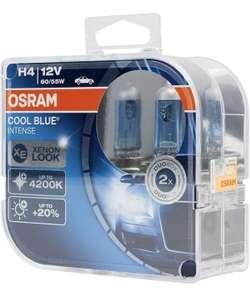 Lot de 2 lampes de phare halogène OSRAM Cool Blue Intense H4 12V (64193CBI-HCB)