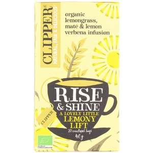 Paquet de 20 sachets de thé Clipper Rise & Shine