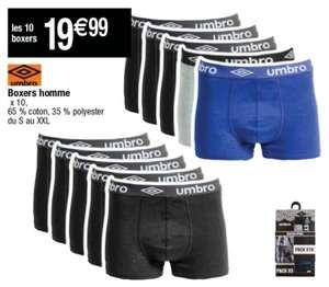 Lot de 10 boxers Umbro pour Homme - Tailles S à XXL