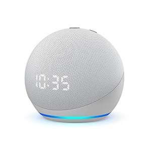 Assistant vocal avec horloge Amazon Echo Dot (4ème génération) - blanc ou bleu/gris