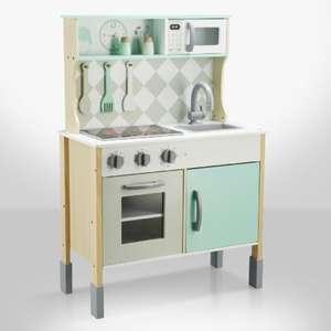 Ma cuisine en bois (2 variantes) avec accessoires - 108x60x60cm