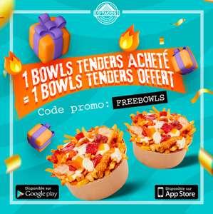 1 Bowls Tenders acheté, le 2ème offert (Seulement sur l'application)