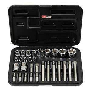 Coffret de douilles et d'embouts KS Tools 911.4301-1 - 30 pièces, 14 Torx, 30 mm + 75 mm