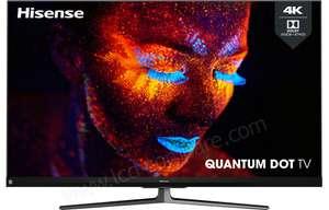 """TV 55"""" Hisense Quantum Dot 55U82QF - 4K UHD, QLED, 100 Hz, Smart TV, avec barre de son JBL intégrée"""