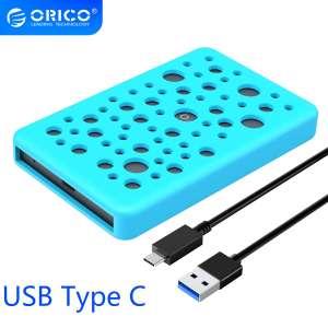 """Boîtier pour disque dur 2.5"""" Orico - USB type-C, avec protection en silicone"""