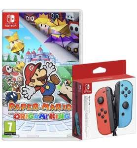 Pack Manette Joy-Con Bleue et Rouge + Paper Mario sur Nintendo Switch