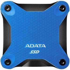 """SSD externe 2.5"""" USB 3.2 Adata SD600Q (NAND 3D) - 480 Go, bleu"""