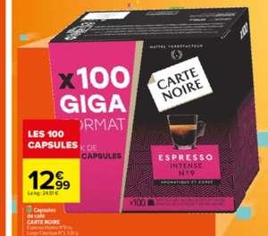 Boite de 100 capsules de café Carte Noir