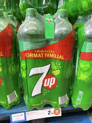 Lot de 4 bouteilles 7UP saveur citron & citron vert (4 x 1.5L) - Gramat (46)