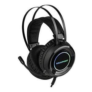Casque audio filaire Blaupunkt MP4950-133 - avec lumières LED & micro, noir