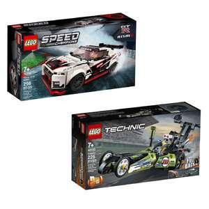 1 Lego acheté = le 2e à -50% (le moins cher) - Ex : Lego Technic 42103 Le dragster + Lego Speed Champions 76896 Nissan GT-R NISMO