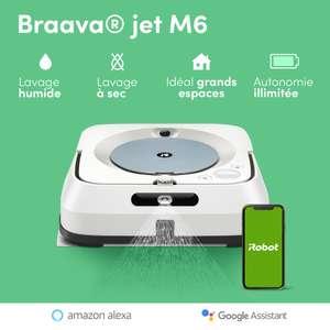 Pack Aspirateur Robot Braava jet M6 + 2 lingettes réutilisables lavage des sols
