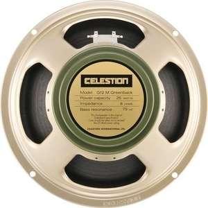 Sélection de haut-parleurs Celestion pour ampli guitare et basse en promotion - Exemple G12M Greenback