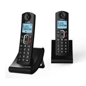 Kit 2 Téléphones fixes Alcatel F685 Duo - Noir