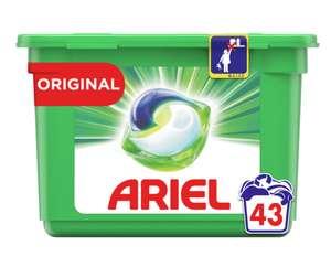 Boîte de lessive en capsules Ariel Pods+ 43 lavages - (via 10.15€ sur Carte Fidélité)