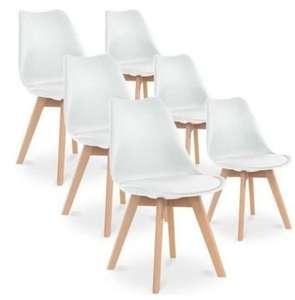 Lot de 6 chaises Catherina - Blanc (vendeur tiers)