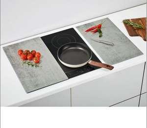 Lot de 2 Couvre-plaques de cuisson en verre