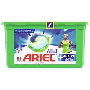 Boîte de lessive en capsules Ariel Pods+ 31 lavages - Différentes variétés (via 11,20 € sur Carte Fidélité + BDR)