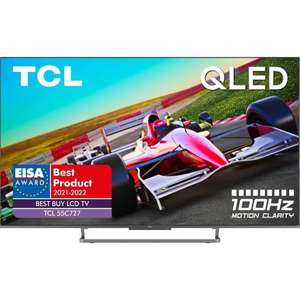 """TV 55"""" TCL 55C727 - QLED, 4K UHD, 100 Hz, Dolby Vision, Dolby Atmos Onkyo, Android TV, Ports HDMI 2.1 (Via ODR de 100€)"""