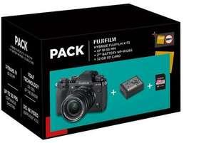 Appareil photo hybride Fujifilm X-T3 (noir) + Objectif XF 18-55 mm + 2ème batterie + SD 32 Go
