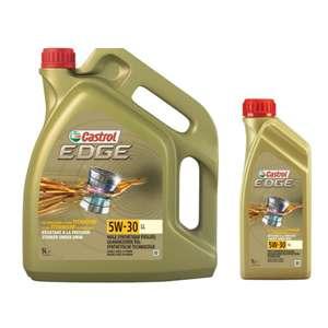 Huile moteur Castrol Edge Titanium - 5W-30 LL, Essence & Diesel (5L + 1L)