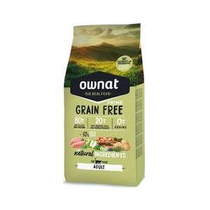 2 Paquets de croquettes Ownat Grain Free Prime pour Chat Adulte - 2x8kg