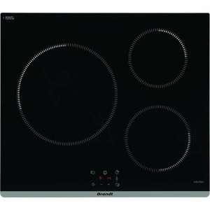 Plaque de cuisson induction Brandt TI364B - 3 zones, 7200 W, L60 cm, noir (+25€ cagnotté pour les CDAV via dépôt d'avis)