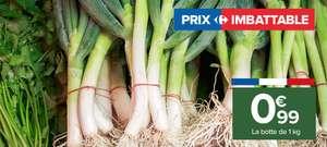 Botte de 1kg de poireaux - Catégorie 1, Origine France