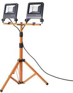 Projecteur de chantier Ledvance - LED, 2 x 50W, 2 x 4500 lumens, IP65, avec support trépied