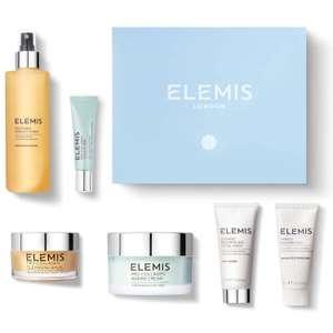 Box Elemis x Glossybox 2021 : Nettoyant visage (30 ml), Baume nettoyant (20g), Crème exfoliante (200ml), Lotion tonique (200ml),...
