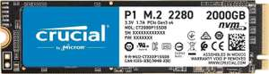 SSD interne M.2 NVMe Cricial P1 - 2 To (Frontaliers Allemagne)