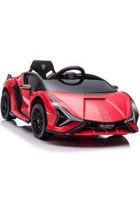 Voiture électrique HOMCOM pour Enfants Supercar 12 V - V. Max. 8 Km/h Effets sonores + Lumineux Rouge (Vendeur Tiers)
