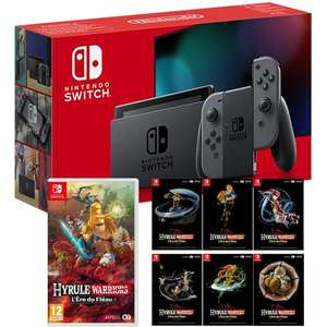 Pack Console Nintendo Switch + Hyrule Warriors + Set 6 cartes postales